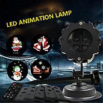 Лазерний проектор   Вуличний проектор сніжинки   Портативний проектор Laser Projector Lamp 4 картриджа, фото 4