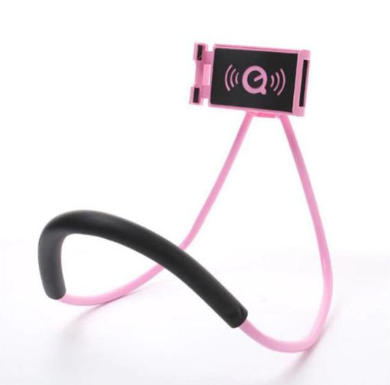 Універсальний тримач на шию для телефону Phone Holder рожевий