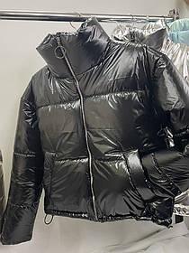 Женская стильная куртка, Стильная женская куртка плащевки фольга + силикон 150
