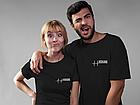 """Парные футболки для парня и девушки  """"Серцебиття+Кохаю"""", фото 2"""