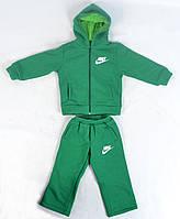 Теплый детский спортивный костюм на 3-4 года Nike на флисе