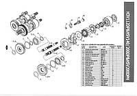 Комплект поршней (11) насоса Kawasaki K5V200DPH1HQR-OEO2-V