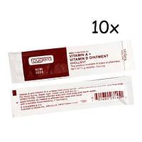 10x Крем заживляющий мазь для тату с витаминами A D 5г Fougera