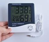Цифровий термо-гігрометр HTC-2 (0-50 С; 10%...99%) з виносним датчиком (термопарою -50...+70°C), фото 5