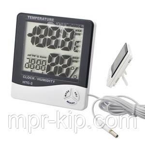 Цифровий термо-гігрометр HTC-2 (0-50 С; 10%...99%) з виносним датчиком (термопарою -50...+70°C)