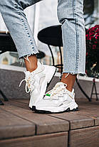 Женские кроссовки adidas Ozweego Light Grey White Адидас Озвиго белые бежевые, фото 2