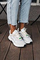 Женские кроссовки adidas Ozweego Light Grey White Адидас Озвиго белые бежевые, фото 3