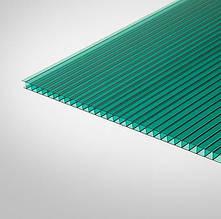 Сотовый поликарбонат Polygal 10 мм зеленый 2,1х6 м