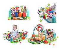 Коврик-пианино детский развивающий Baby Gift Piano Fitness Rack с музыкальной панелью и погремушки