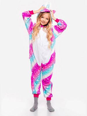 Кигуруми - Единорог Млечный путь - Пижама детская, пижама теплая  Premium Velsoft