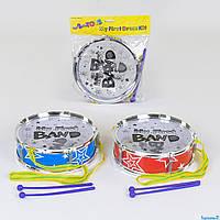 Барабан 666 Е-2 (96/2) 2 кольори, 2 палички, в кульку