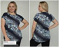 Женская туника-футболка лето от 50 до 64 №3