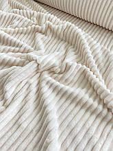 Ткань плюшевая Minky Stripes топленое молоко (шарпей)