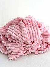 Ткань плюшевая Minky Stripes розовый (шарпей)