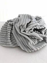 Ткань плюшевая Minky Stripes светло-серый (шарпей)
