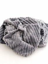 Ткань плюшевая Minky Stripes серый (шарпей)