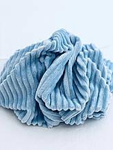 Ткань плюшевая  Minky Stripes светло-голубой (шарпей)