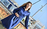 Женское шелковое платье цвет электрик, фото 2
