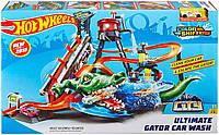 Игровой набор Hot Wheels Измени цвет Водонапорная башня трек Хот Вилс Ultimate Gator Car Wash FTB67 оригинал