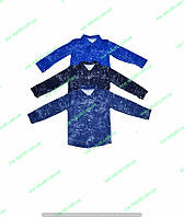 Рубашка для мальчика джинс,интернет магазин,комсомольский детский трикотаж,детская одежда,двунитка утепленная