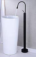 Напольный смеситель для умывальника (Раковины) FUTURA Black Mat, фото 1