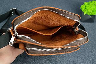 """Чоловіча сумка """"Модель №88"""", Вінтажна шкіра, колір Коньяк, фото 3"""