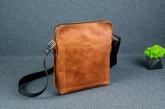 """Мужская сумка """"Модель №88"""", Винтажная кожа, цвет Коньяк, фото 2"""