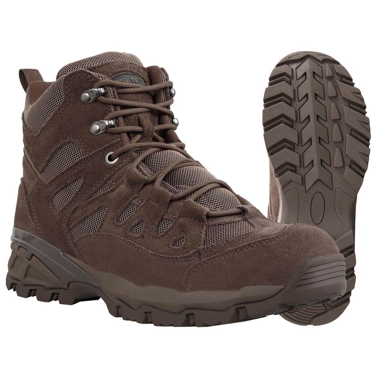 Ботинки тактические коричневые Милтек