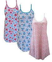 Ночная рубашка женская на бретельках,женская одежда от производителя,комсомольский женский трикотаж,кулир