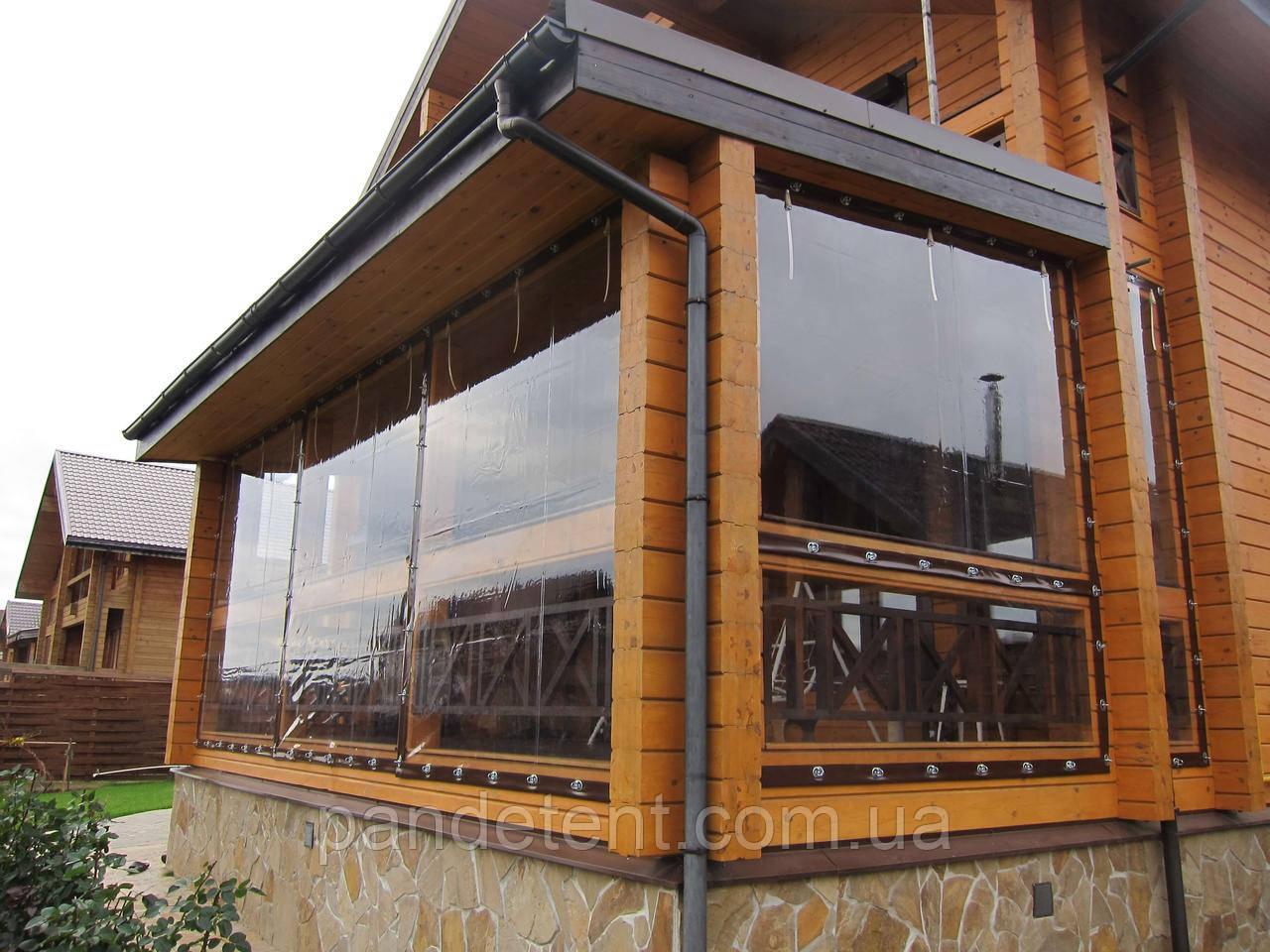 Шторы ПВХ для веранд, террас,беседок. Прозрачные мягкие окна