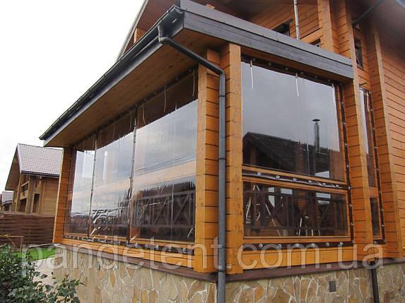 Шторы ПВХ для веранд, террас,беседок. Прозрачные мягкие окна, фото 2
