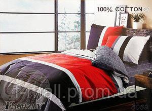 Комплект постельного белья ELWAY (Польша) Сатин евро (5069)