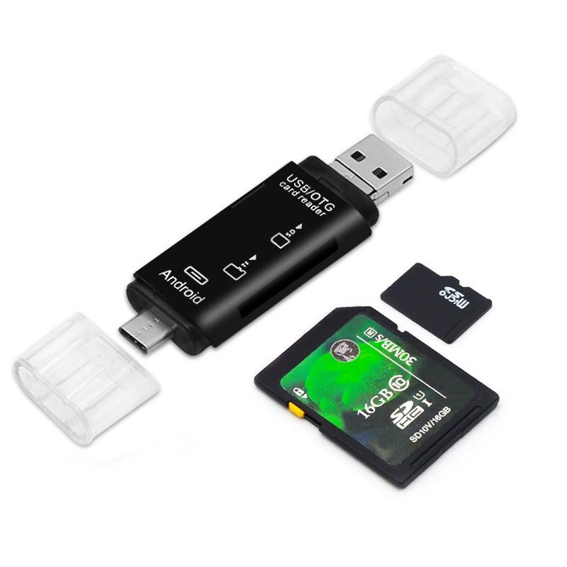 OTG ПЕРЕХІДНИК 3 В 1 TYPE-C, MICRO USB, КАРТРІДЕР