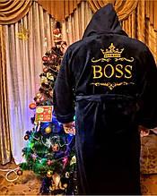 Махровый халат с вышивкой мужской  . Подарок мужчине