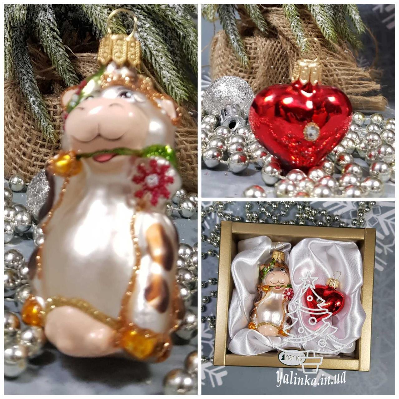Корова и сердечко (2шт) набор игрушек Irena