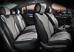 Чехлы 3D с алькантары Elegant Torino на передние и задние сидения автомобиля EL 700 123 серые