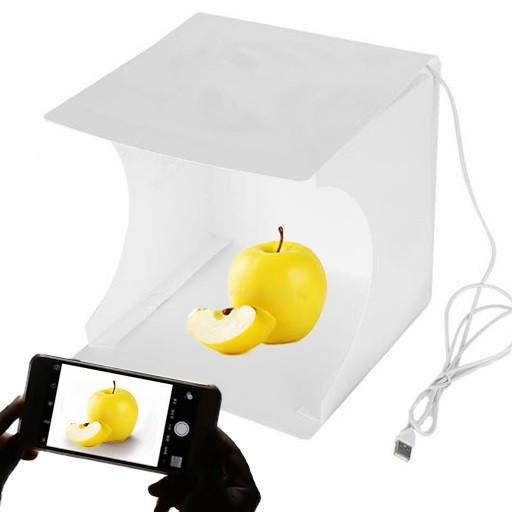 Фотобокс 20 см для предметной съемки Лайтбокс с LED подсветкой Фотокуб USB (M90324)