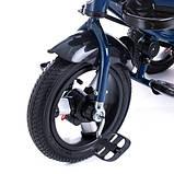 Дитячий триколісний велосипед коляска Baby Trike 6088 з ігровою панеллю і поворотним сидінням Синій, фото 6