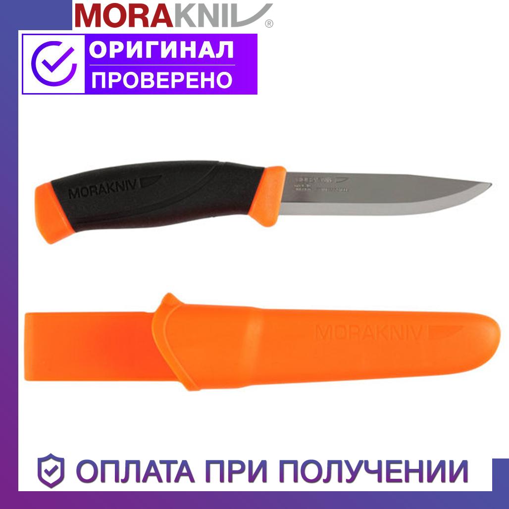 Ніж Morakniv Companion F Orange нержавіюча сталь прогумована рукоять з помаранчевими накладками