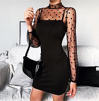 Жіноче міді сукню. Арт.(01372)