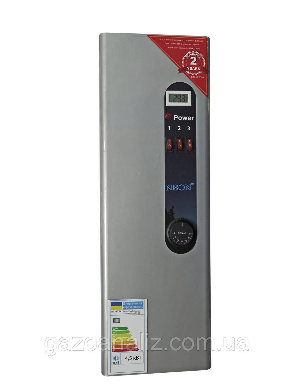 Электрокотел NEON WCSМ 4,5 кВт 220в/380в. Модульный контактор (т.х)