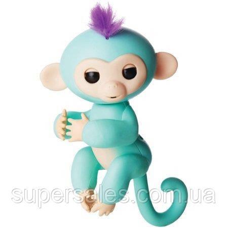 Интерактивная игрушка обезьянка Fingerlings Monkey (Зеленая)