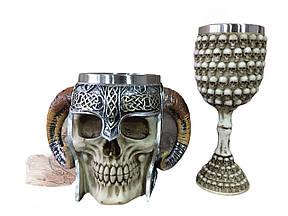 Подарунковий Набір Гуртка Чашка Келих 3D Сатан Черепа Навколо Великі Подарунок
