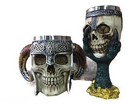 Подарунковий Набір Гуртка Чашка Келих 3D Сатан Череп Лапа Дракона Подарунок