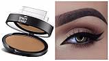 Штамп для бровей Eyebrow Beauty Stamp, пудра для бровей, фото 3