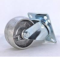 Поворотное колесо из алюминия диаметром 80 мм термостойкое