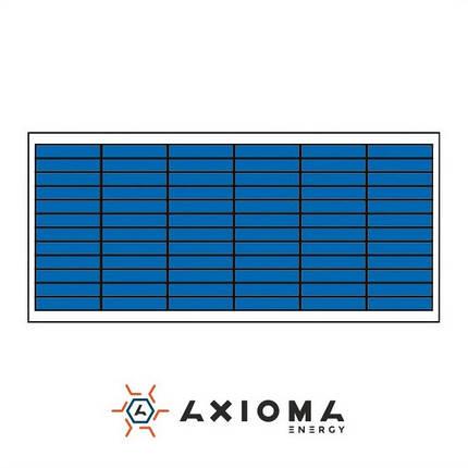 Солнечная батарея (панель) 65Вт, поликристаллическая AX-65P, AXIOMA energy, фото 2