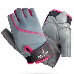 Спортивные фитнес перчатки WAY4YOU для фитнеса спорта силовых тренировок атлетические