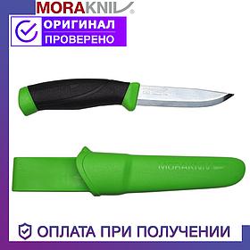 Нож Morakniv Companion Green с лезвием из нержавеющей стали Моракнайв цвет зелёный