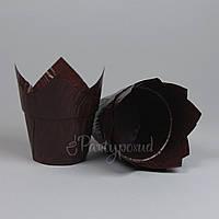 """Капсула """"Тюльпан"""" с усиленным бортом коричневая глянцевая"""